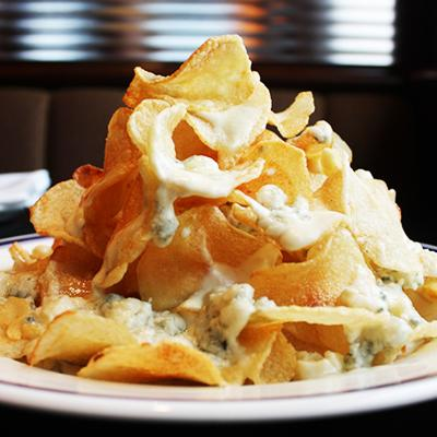 Buckhead Diner's warm Maytag blue cheese chips
