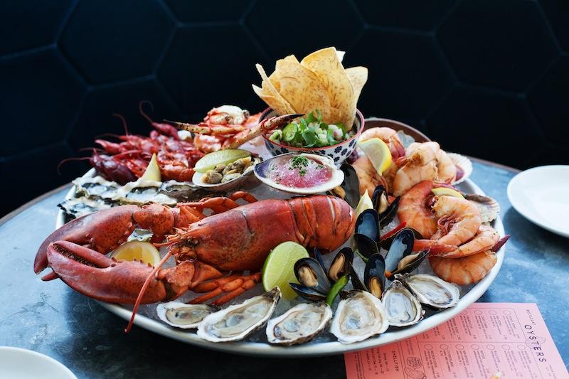 Seafood platter at BeetleCat