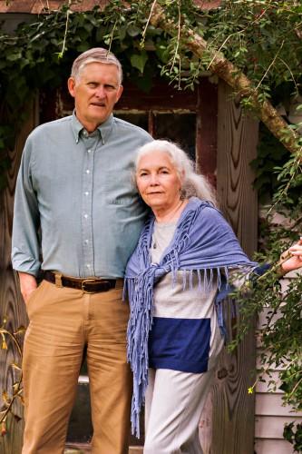 Bob and Bebe Woody at the White Doe Inn in Manteo, North Carolina.
