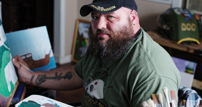 How art therapy helps a Georgia veteran with PTSD