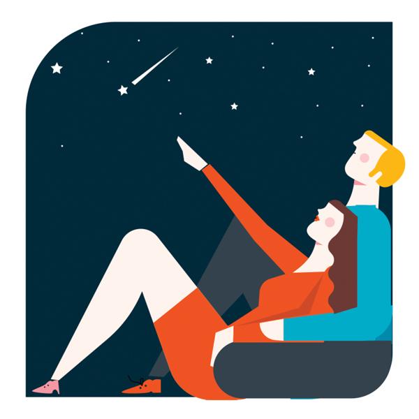Stargazing illustration