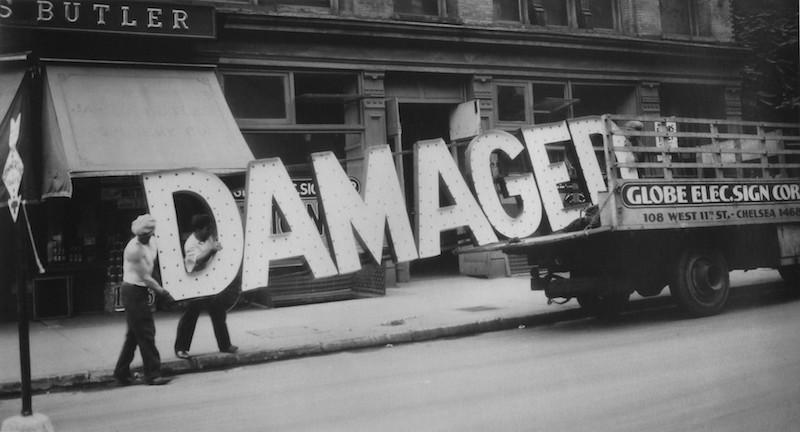 Walker Evans (American, 1903-1975), Truck and Sign, 1928-1930,gelatin silver print. Yale University Art Gallery, Everett V. Meeks, B.A. 1901, Fund, 2009.163.1. © Walker Evans Archive, The Metropolitan Museum of Art, New York