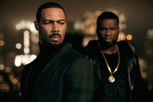 Omari Hardwick (left) as James St. Patrick, with 50 Cent (right) as Kanan