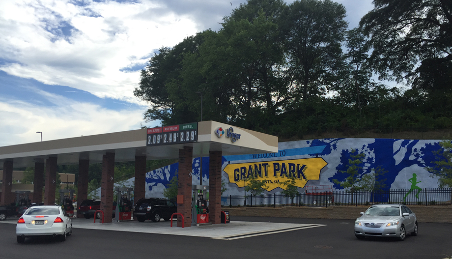 What you 39 ll find at the giant glenwood kroger atlanta for Cleveland gas station mural
