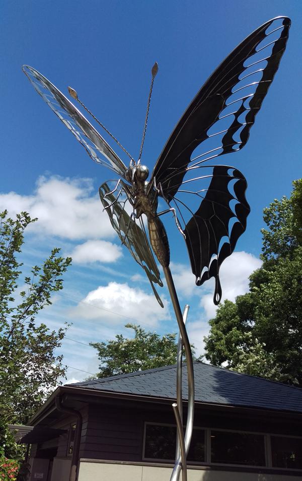 Atlanta Botanical Garden Childrenu0027s Garden Renovation A Butterfly Sculpture  Greets Visitors
