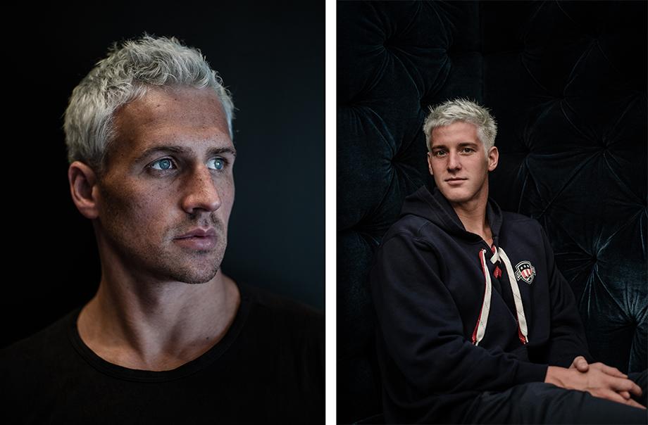 Ryan Lochte blue hair Jimmy Feigen blue hair