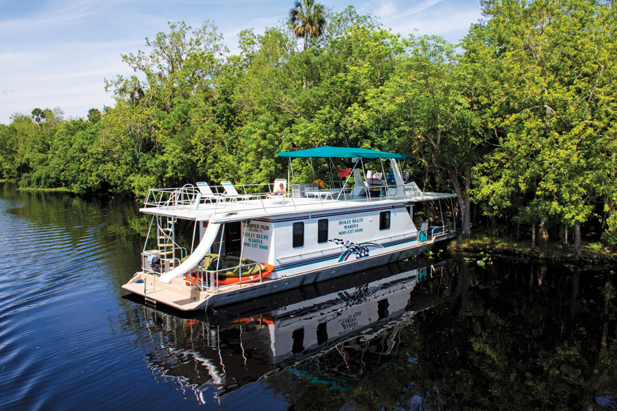 Once the domain of steamboats, the river now welcomes a steady rotation of houseboats.