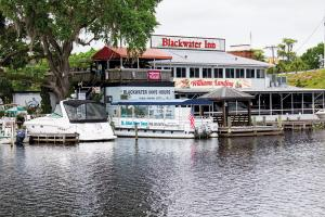 Blackwater Inn in Astor offers riverfront dining with boat parking.