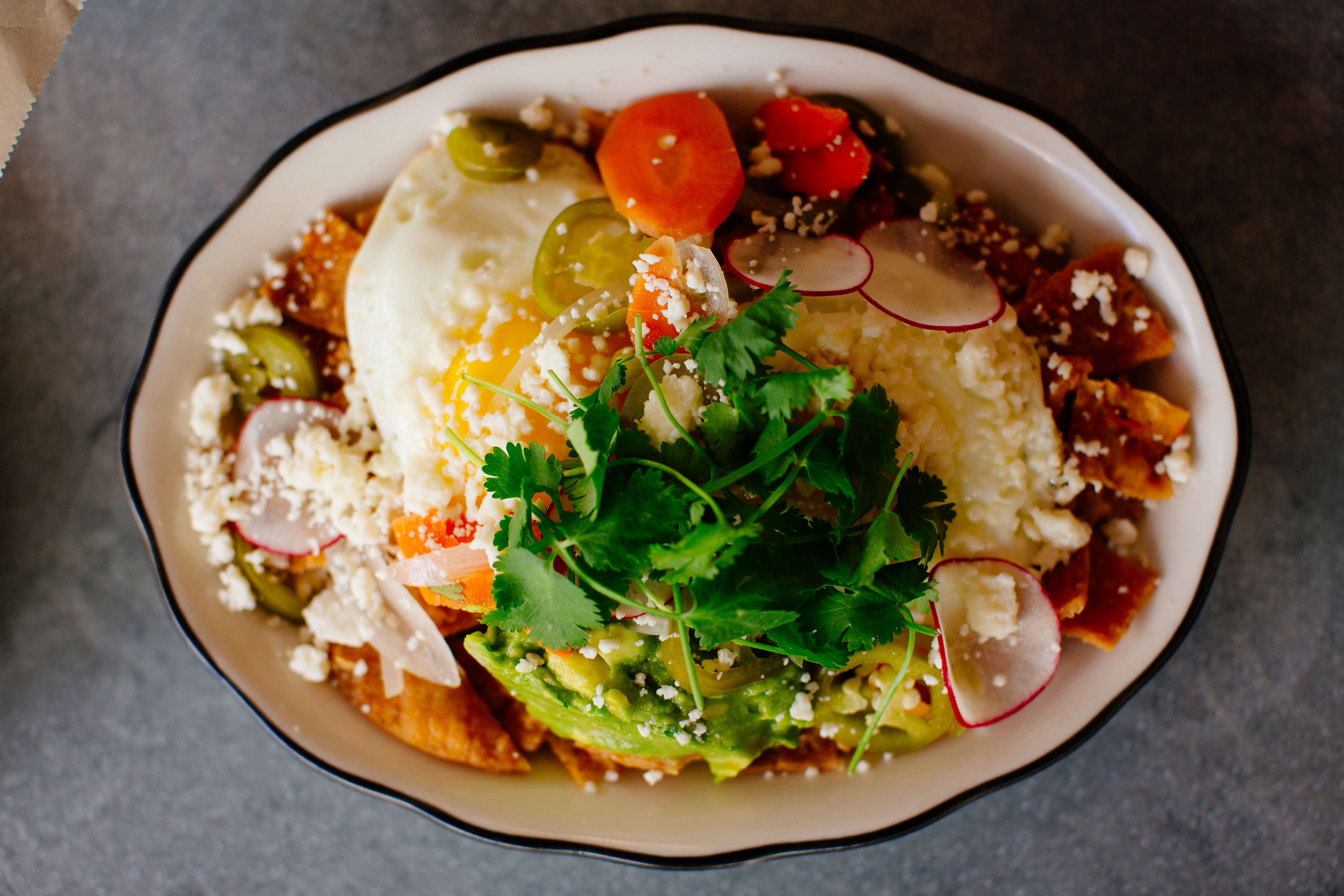 Chilaquiles at Superica.