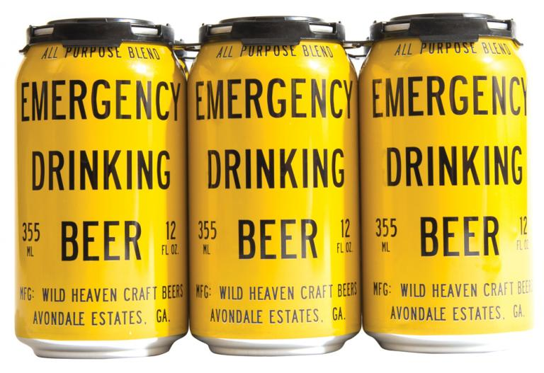 Emergency Drinking Beer Can