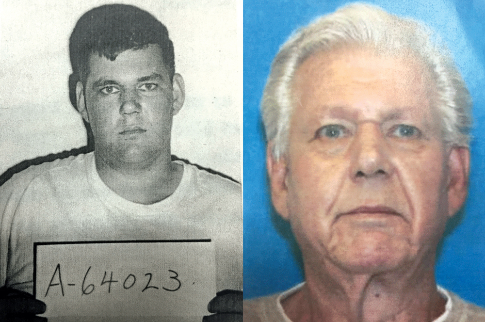 Robert Stackowitz—seen here in arrest photos from 1966 and 2016—spent 46 years on the lam after escaping from a prison work detail in Carroll County.