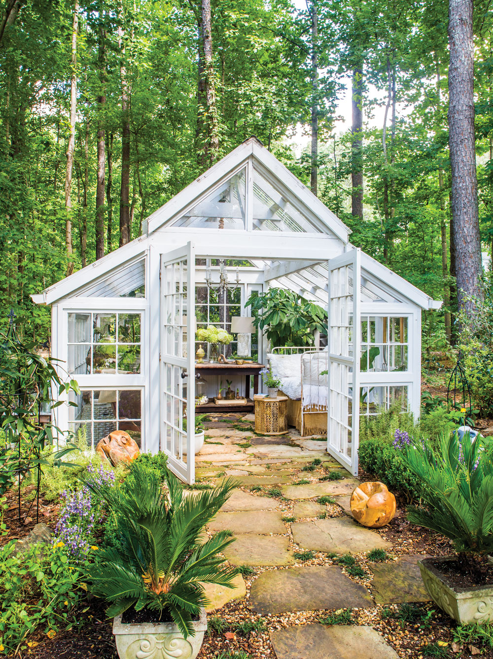 Room envy this glass garden house in marietta is a for Bhg greenhouse