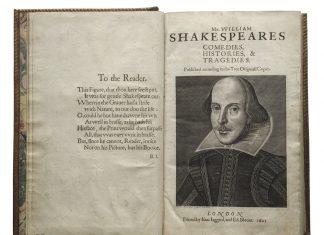 Shakespeare's first folio Atlanta