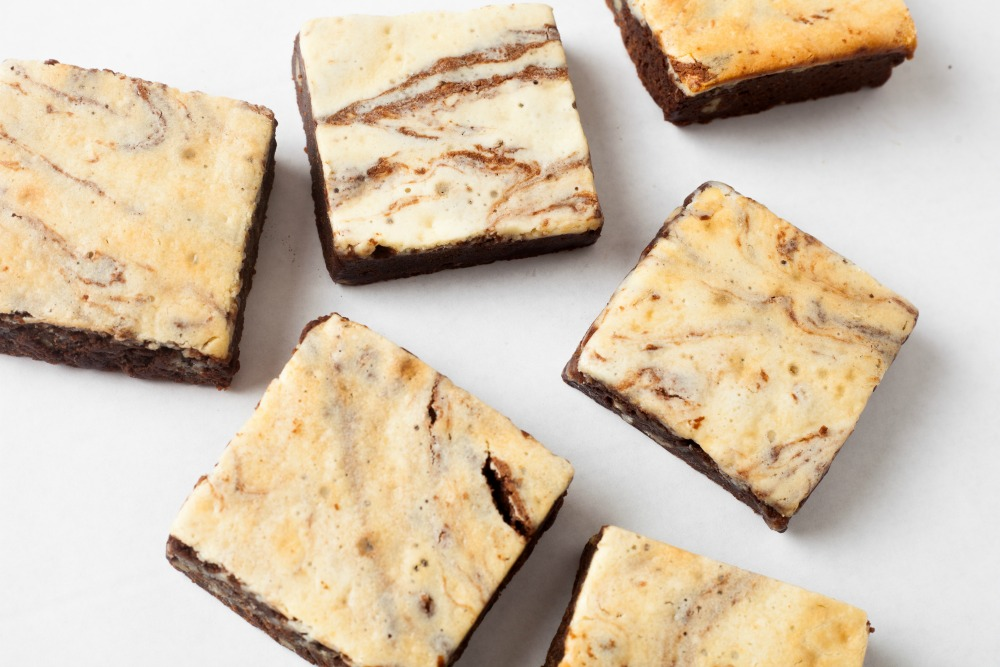 The Dessert Place's cream cheese brownies.