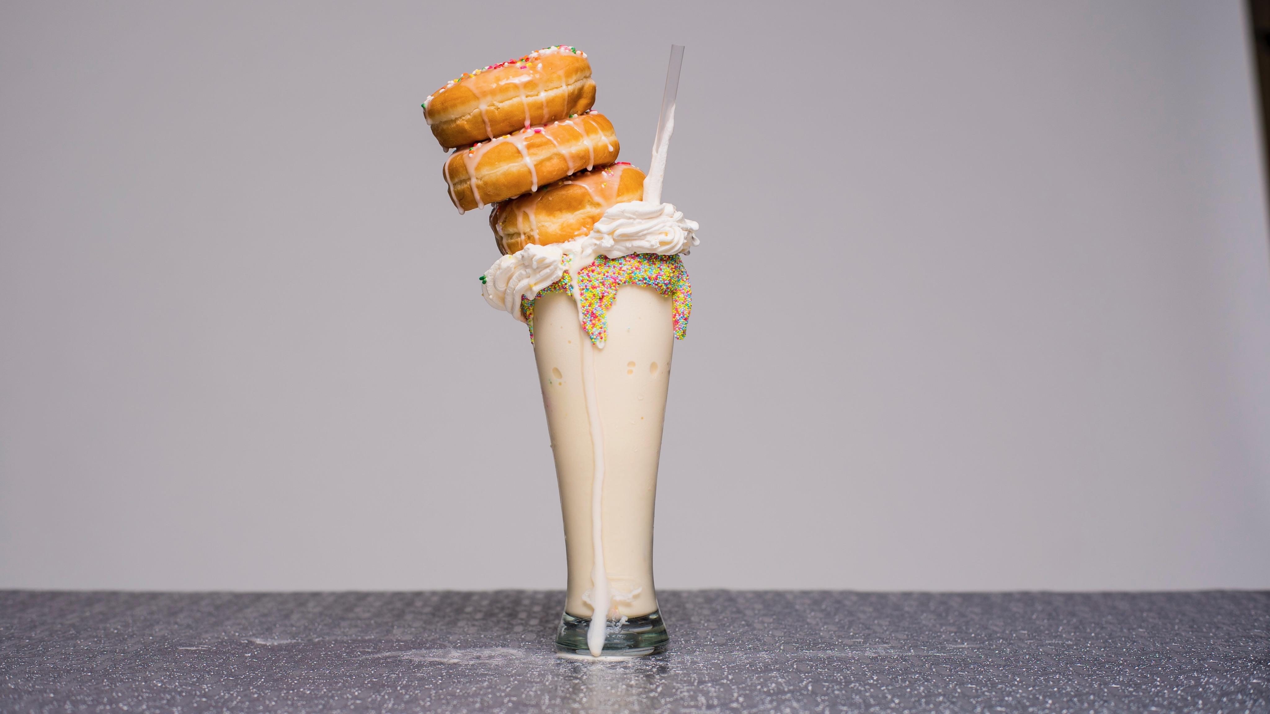 The donut milkshake at My Fair Sweets.