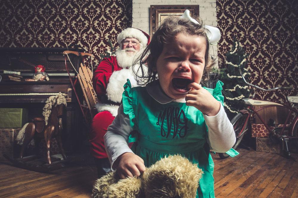 Jeff Roffman Crying Kids Santa