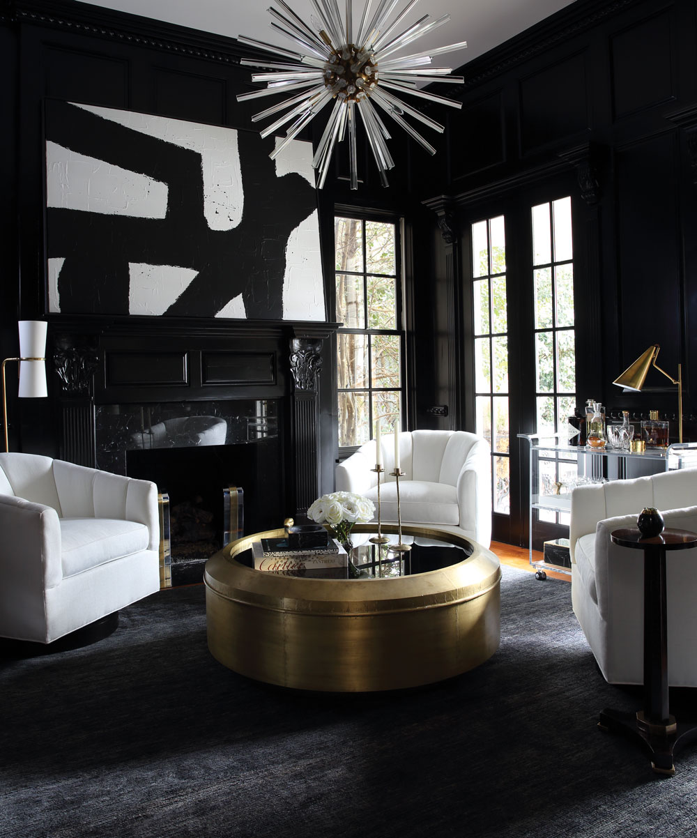 how to design a home with black and white - atlanta magazine