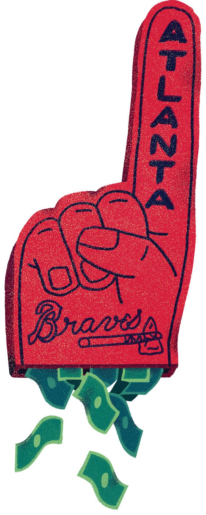 Braves foam finger