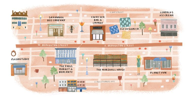 Spend the day stopping into shops along Savannah's Broughton Street