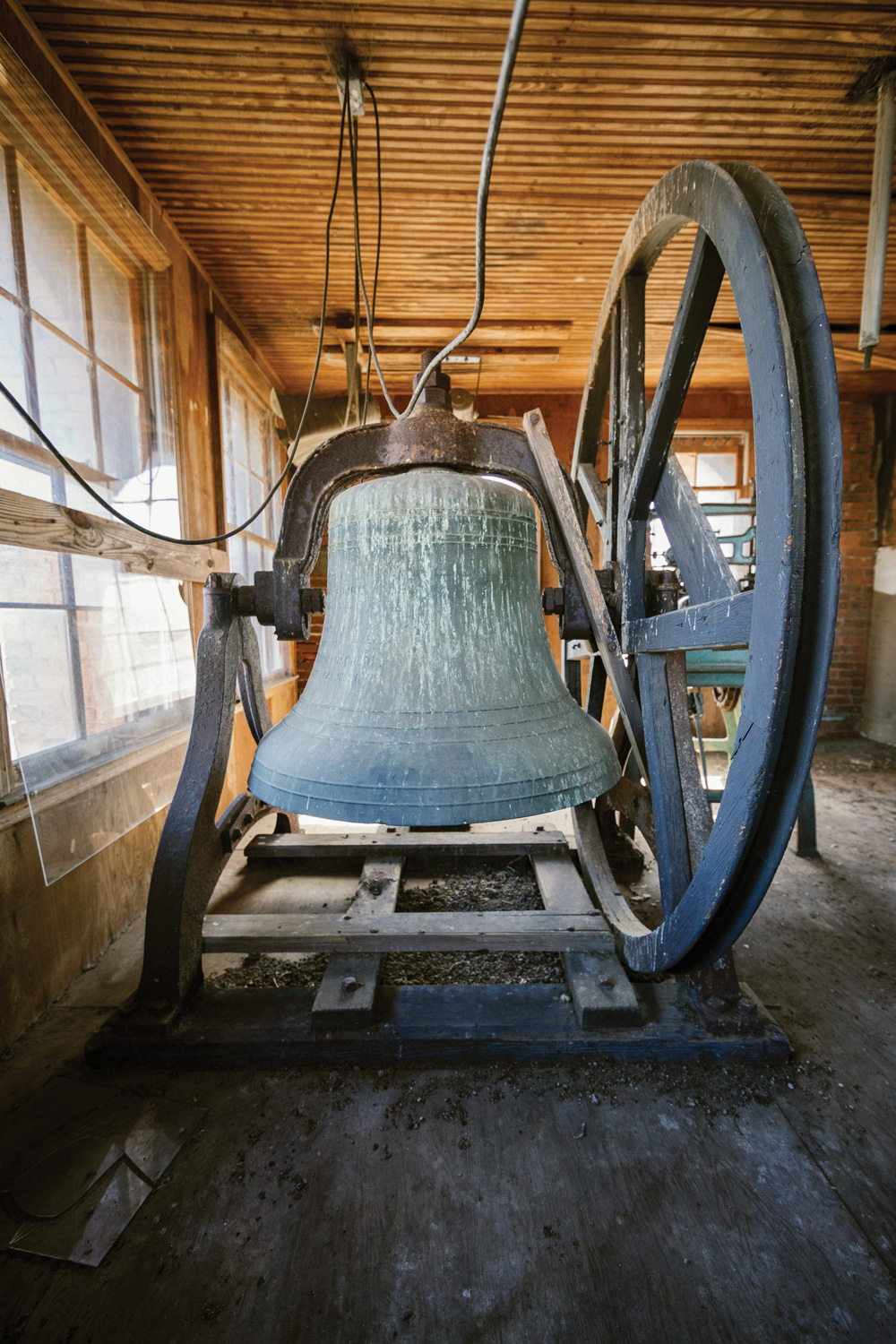 1880 bell in Fountain Hall's tower