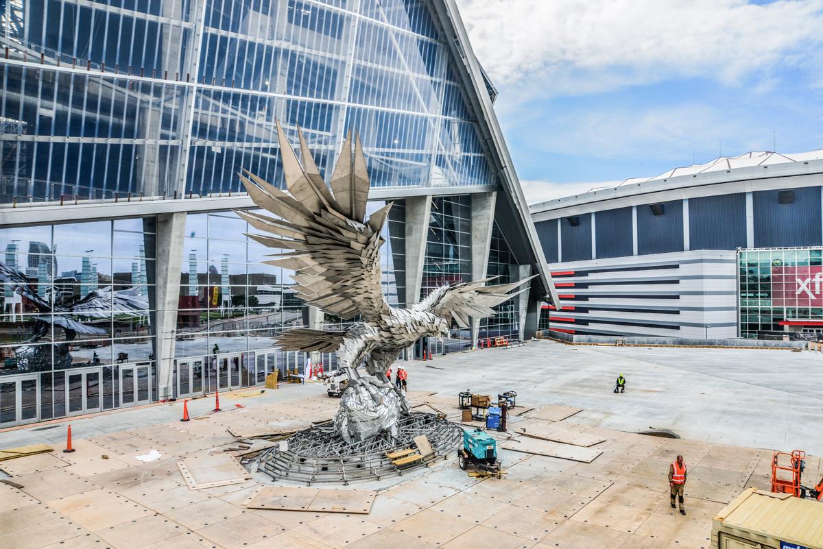 Mercedes Benz Falcon statue