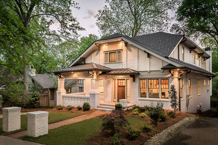 House envy this once run down craftsman a block from for Craftsman homes atlanta