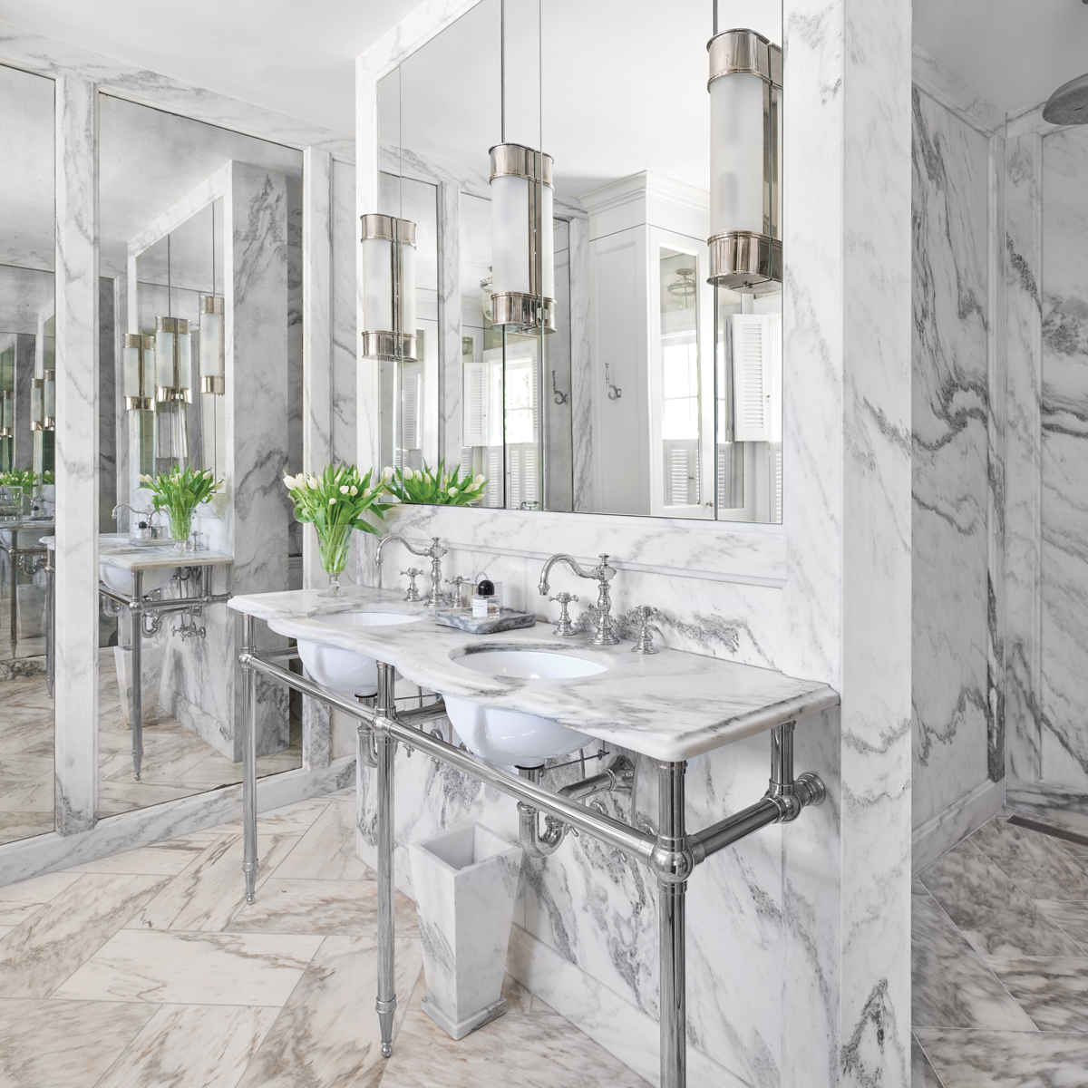 Masterbathrooms: This Gorgeous Master Bath Came From Classic Inspiration