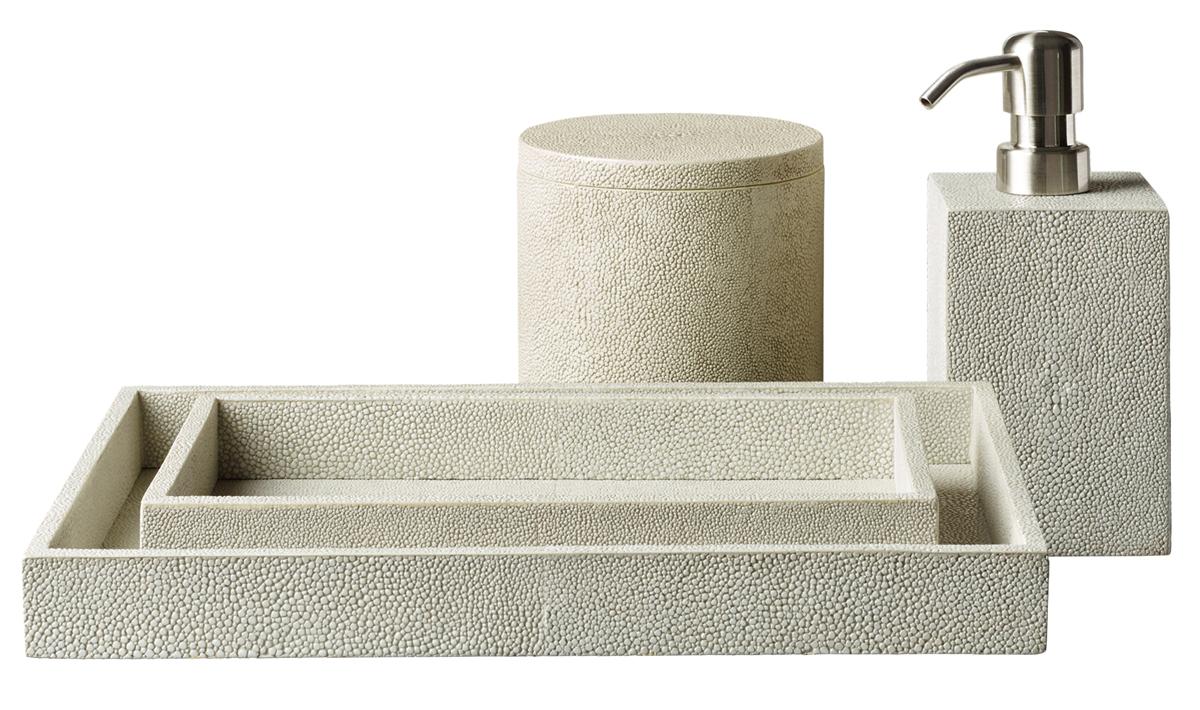 Turn your bath into a spa with these 14 seaworthy indulgences atlanta magazine for Restoration hardware bathroom accessories