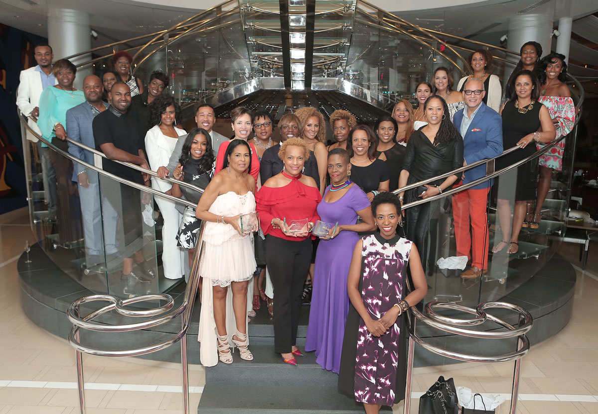 Kimberly Ward, Front Right, With Black Interior Designers Conference  Attendees At JP Atlanta Last Summer.