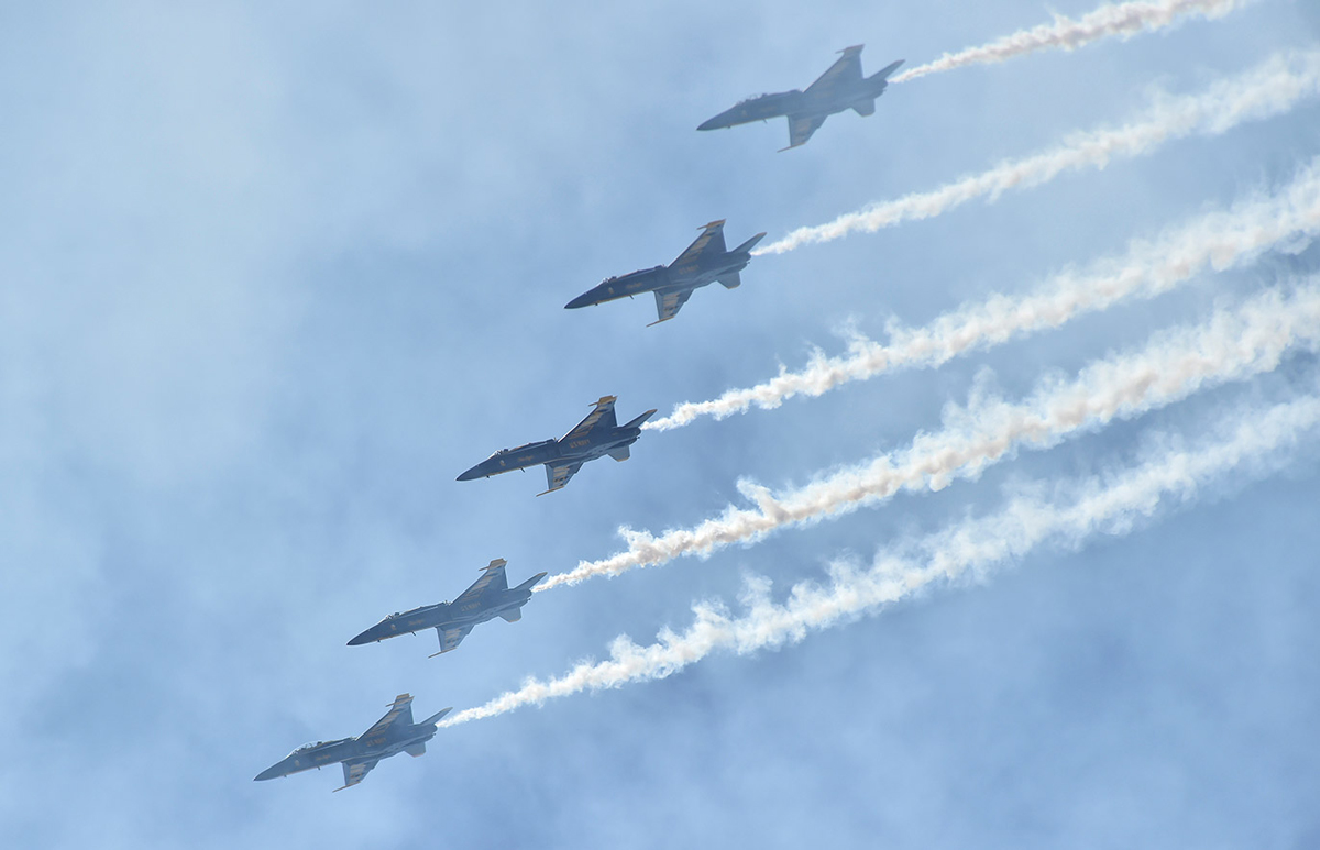 What is it like to fly with Blue Angels