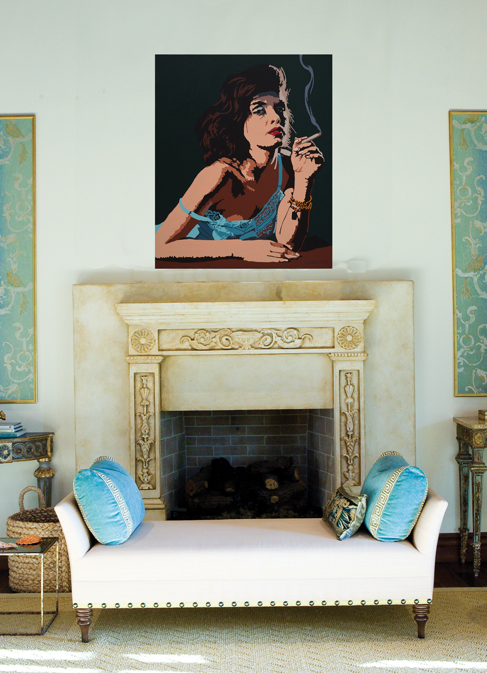 not sure how a painting will look in your house the artcloud app