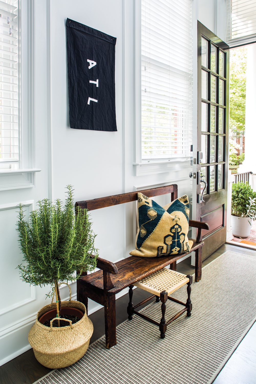 This Decatur Townhouse Got A Bright Colorful Makeover