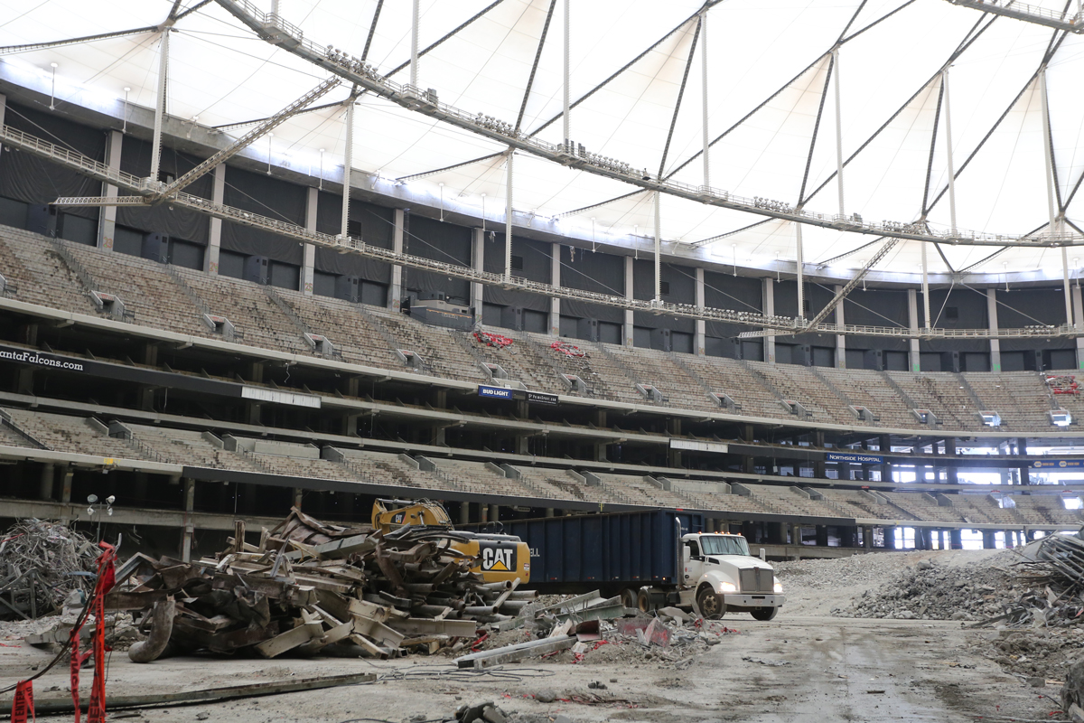 11 things to know about the georgia dome implosion for Mercedes benz dome georgia