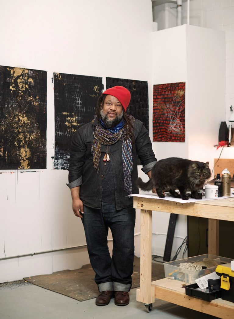 """Atlanta artist Michi Meko's work is """"the contemporary experience of black life and survival"""""""