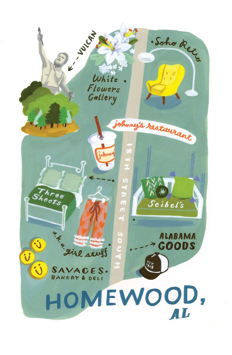 Street smart homewood alabamas 18th street south atlanta magazine homewood alabama mightylinksfo Choice Image