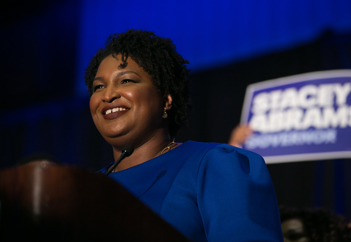 After a landslide victory, Stacey Abrams becomes the first female nominee for Ge...