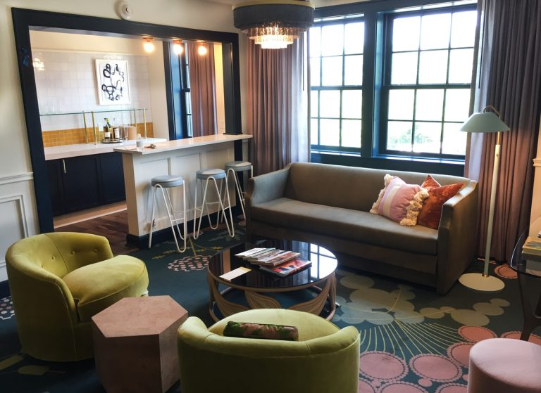 A peek at the renovated Hotel Clermont's hip rooms and vintage furnishings