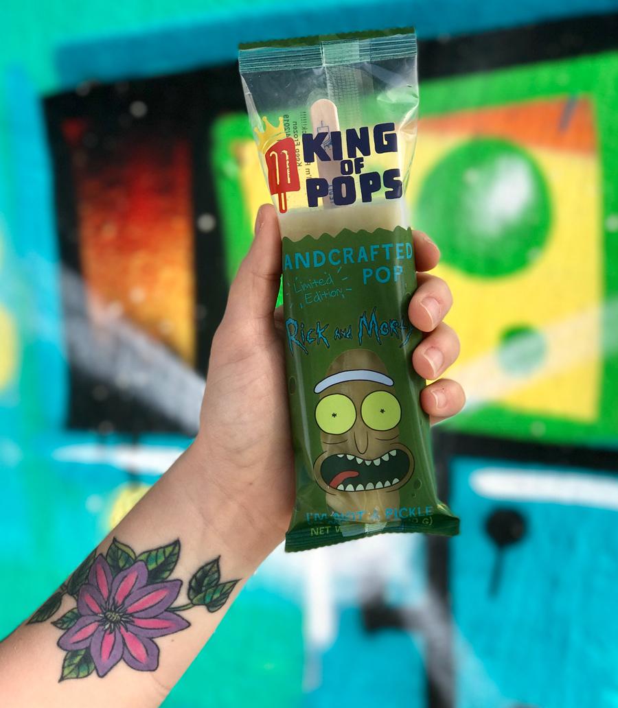 Pickle Rick King of Pops