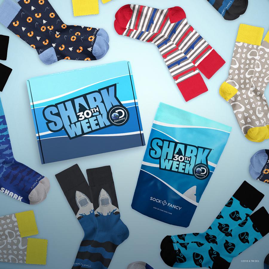 An Atlanta company made official socks for Shark Week's 30th Anniversary
