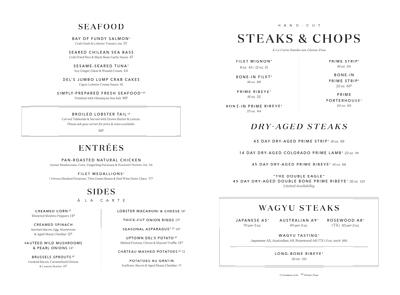 Double Eagle Steakhouse Atlanta Menu