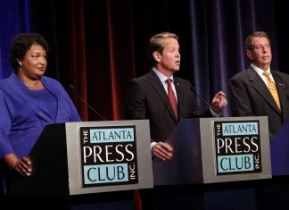 Stacey Abrams Brian Kemp Ted Metz Georgia Governor Debate Atlanta Press Club Election 2018
