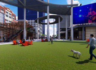 Atlantic Station Central Park Construction