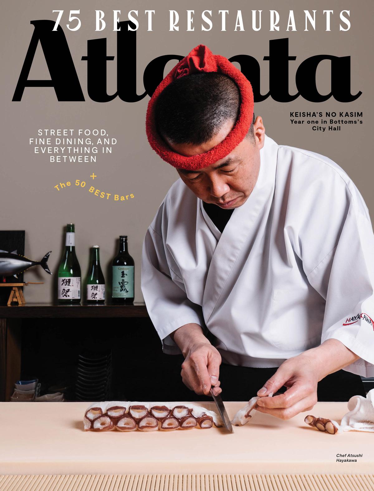 Atlanta Magazine June 2019 cover - 75 Best Restaurants in Atlanta
