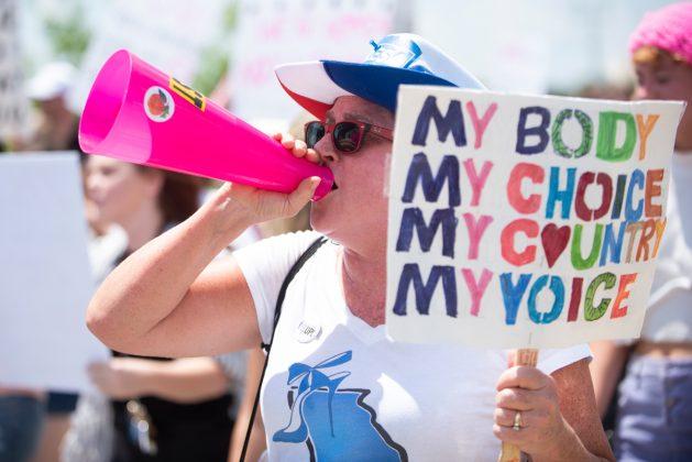 DoBetterGA Protest Pro-Choice Abortion Downtown Atlanta GA