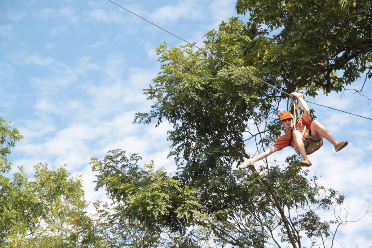 Zip line at Unicoi State Park