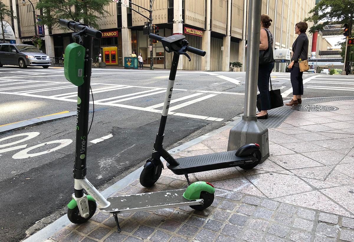 E-scooters Atlanta nighttime ban