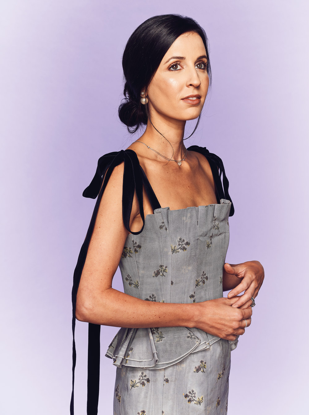 My Style: Alexandra Dillard Lucie wears a silver, floral dress