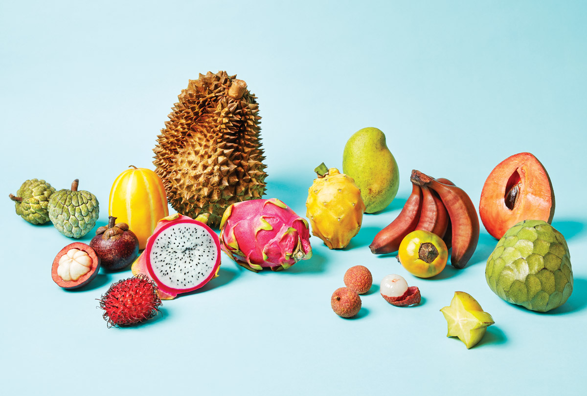 Fruits laid out