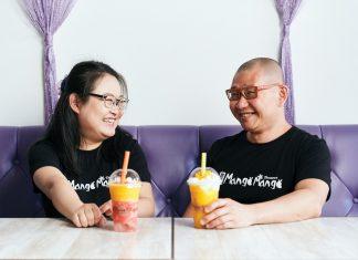 Cindy Cheng and Jet Lee at Mango Mango