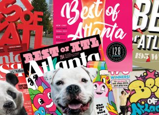 Six years of Atlanta Magazine Best of Atlanta covers